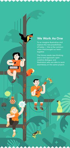 Illustrations for a web based self promotional presentation.