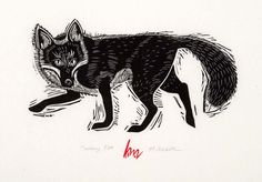 Cunning Fox - uneditioned print by Holly Meade