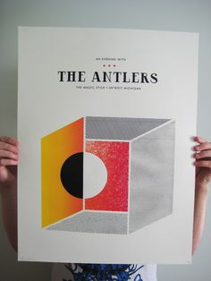 Poster for The Antlers Detroit, MI show - June 12, 2011