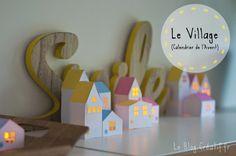 Peut être mon calendrier de l'Avent préféré, mon village de petites maisons pour patienter jusqu'à Noël ♥
