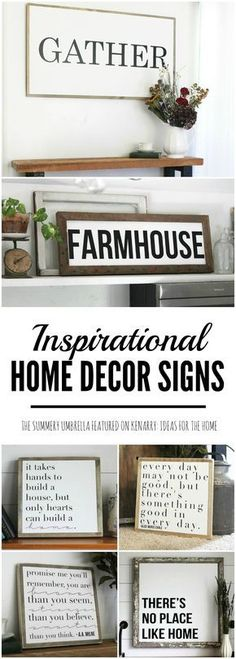 Rustic And Modern Inspirational Signs For Your Home