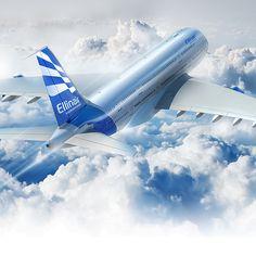 "Consulta este proyecto @Behance: ""Ellinair Airlines"" https://www.behance.net/gallery/33399995/Ellinair-Airlines"