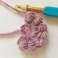 knit   crochet design  New Found Love - Bullion Stitches Motivo  All uncinetto 65c5405ab645