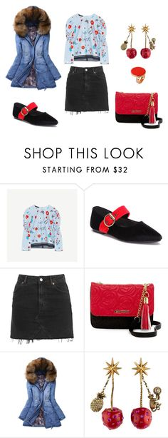 """""""look del dia : sunday"""" by aliciagorostiza on Polyvore featuring moda, Topshop, Betsey Johnson, WithChic, Gucci y STELLA McCARTNEY"""