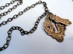 10a16df0b Vintage Key Hole Steampunk Necklace Steampunk Corset, Steampunk Necklace,  Steampunk Clothing, Steampunk Fashion