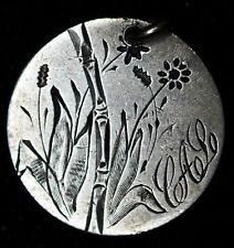 Love Token Engraved Flower Design W/ CAL On 1878 Liberty Seated Dime Silver.