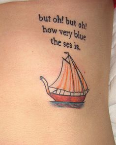 Both the quote and the sailboat are from the book Abarat, by Clive Barker