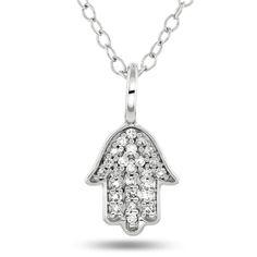 Anheng i gull med diamant 0,06ct WP