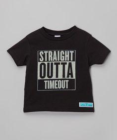 Look at this #zulilyfind! Black 'Timeout' Tee - Toddler & Kids #zulilyfinds