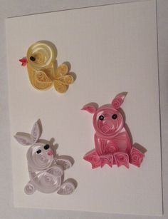 Handmade paper quilled card baby card by MaritimeHandcrafts