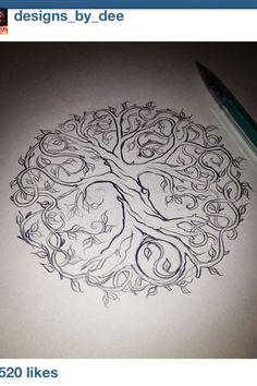 Celtic tree tattoo tatoo ideas for 2019 Simbolos Tattoo, Tattoo Life, Tattoo Drawings, Roots Tattoo, Tree Of Life Tattoos, Tattoo Neck, Gray Tattoo, Hand Tattoo, Deer Tattoo