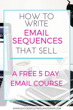 Do you want to sell more in your emails? Learn how to write email sequences that sell! Here is a free 5 day course where you will learn email sequence tips so you can improve your sales conversions and convert leads to sales. Start right now! Email Marketing Design, Email Marketing Campaign, Email Marketing Strategy, Small Business Marketing, Make Real Money, Real Moms, Time Management Tips, Online Work, Writing Tips