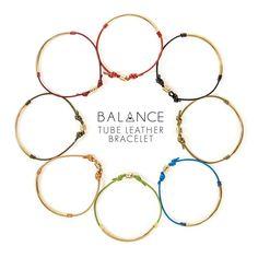 Dogeared Balance Tube Leather Bracelets