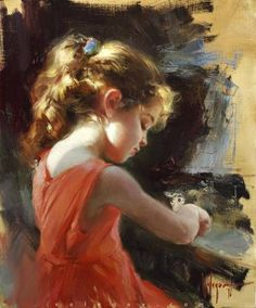 Gallery of artist Vladimir Volegov, portraits of very beautiful women. #OilPaintingPortrait