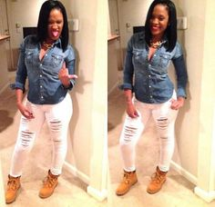 Timberland Boots with Denim Outfit