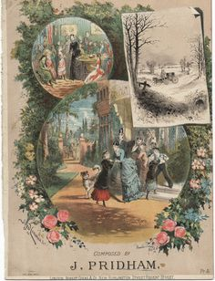 """Another piece from the Alfred Concanen Collection, """"Holiday Fantasia """" by John Pridham. Concanen's family was from Co. Roscommon and Co. Galway. He was one of the leading lithographers of the Victorian era. #sheetmusic"""