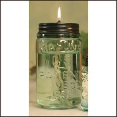 Up-Cycled Mason Jar Kerosene Lamp by Jenifer Crandell