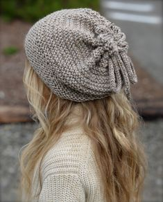 Gypsy Soul Cap / Cowl ~ knitted slouchy beret w/ drawstring top which opens to convert to cowl scarf ~ $5.50 digital pattern download | by Heidi May of The Velvet Acorn via Ravelry
