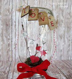 Valentine's In A Jar - Valentine Mason Jar - Mason Jar Valentine Day Craft