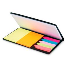 Promotional Colour stickers and notebook . Practical memo set including 1 large white memo pad, 2 colour rectangle memo pad and 5 colour sticky tabs. Corporate Gifts, Personalized Gifts, Notebook, Stickers, Colour, Logo, Promotional Giveaways, Color, Logos