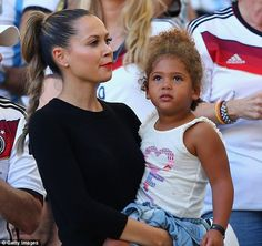 Support: Mandy Capristo, girlfriend of Mesut Ozil, gets ready to watch the German star pla...