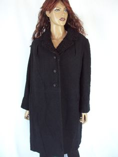 vintage coat-1940s/FUR wool coat/black jacket colar fur /FREE SHIPPING / supper elegant  /ww2/cape coat /elegant women/ outewear/ - http://www.fur.me.uk/vintage-coat-1940sfur-wool-coatblack-jacket-colar-fur-free-shipping-supper-elegant-ww2cape-coat-elegant-women-outewear.html