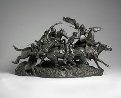 Frederic Remington, (American, 1861–1909). The Old Dragoons of 1850. The Metropolitan Museum of Art, New York. Rogers Fund, 1907 (07.77) #horses