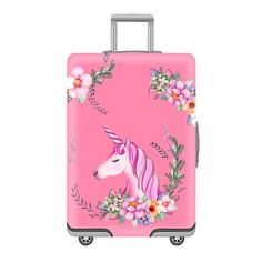 Luggage Protective Covers with Bohemian Floral Texture Washable Travel Luggage Cover 18-32 Inch