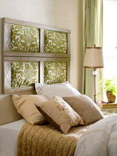 decoracin de dormitorio con cabecero de cama original