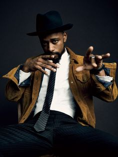 LaKeith Stanfeid for GQ's Hollywood Breakouts 2017 List. Photographed by Billy Kidd. Gentleman Mode, Modern Gentleman, Gentleman Style, Gentleman Fashion, Portrait Poses, Portraits, Best Mens Fashion, Well Dressed Men, Hollywood Stars
