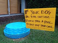 A recent picture showing the good deed of an animal lover has gone viral after being posted to the website Reddit.com. The pictures shows a sign offering free kiddie pools to dog owners to keep their pets cool during the heat. Now the story behind the picture and the woman responsible for the good deed has come to light.how nice.. more peps should do this.