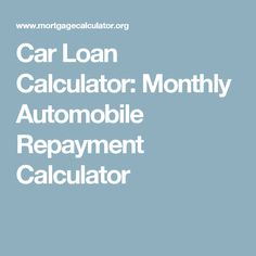 Use This Biweekly Automobile Payment Calculator To View For