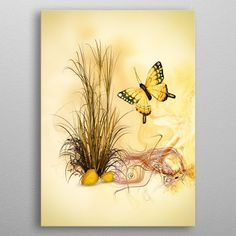 the last butterfly of the year by Dagmar Giers Butterfly, Posters, Metal, Painting, Art, Art Background, Painting Art, Kunst, Poster