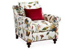 Emmet Club Chair, Floral