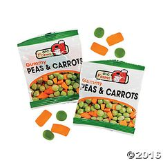 Easter Peas Carrots Candy Fun Packs