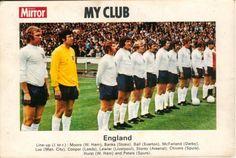 Daily Mirror, My Club - England 1972