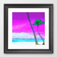 Caribe Series V.3 Framed Art Print by Xchange Studio  - $35.00