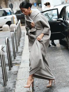 Milan street fashion: my dream coat in cashmere