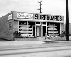 "Dewey Weber's Surfshop Lincoln Blvd, Venice, Ca. John Milner's passenger was wearing one of his shirts in ""American Graffitti""."