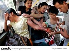 A bus of caring people save a woman who tried to commit suicide in China.