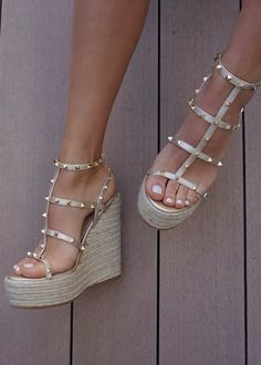 Gold Wedge Shoes, Gold Wedges, Strappy Wedges, Wedge Sandals, Espadrille Wedge, Women's Wedges, Gold Shoes, Strap Sandals, Cute Shoes