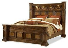 A.R.T. Furniture Marbella Queen Panel Bed - traditional - beds - Carolina Rustica Wood Bed Design, Bedroom Bed Design, Bedroom Sets, Rustic Bedroom Furniture, Art Furniture, Furniture Design, Panel Bed, Home Furnishings, Houzz