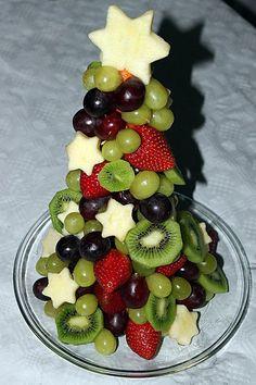 Obst-Weihnachtsbaum, ein gutes Rezept aus der Kategorie Frucht. Bewertungen: 8. Durchschnitt: Ø 4,0.