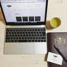 The Tea Crane at work. Of course with a cup of our own delicious flag-ship tea. Organic Native Sencha. #apple #mac #diary #organic #delicious #tea #work