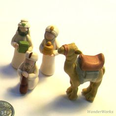 Miniature Nativity Full Feature Set 13 Piece Creche by wonderworks