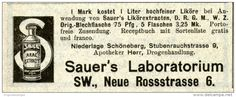Original-Werbung/ Anzeige 1903 - SAUER'S ARAC EXTRACT / SAUER'S LABORATORIUM BERLIN - ca. 100 x 50