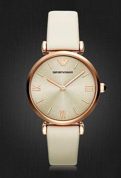 Armani strap watch female fashion retro quartz watch AR1769