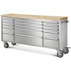 "Hyxion Tool Chests 72"" 15 Drawer Rolling Metal Tool Chest Sku: 10099510"