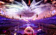 movie fireworks | Beautiful: The fireworks display continues as the Olympic cauldron is ...