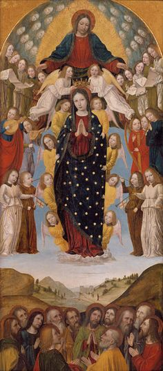 the assumption of the virgin 1500 bergonone milanese